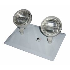 Recessed Twin Head Emergency Light with White Housing