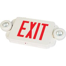 Slim Combo LED Exit And Emergency Light with White Housing