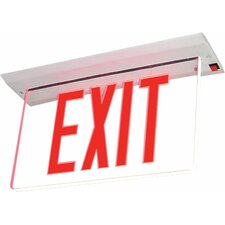 Recessed Edge Lit Single Face LED Exit Sign