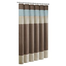 Trinity Faux Dupioni and Polyester Shower Curtain