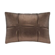 Metallic Faux Leather Oblong Pillow