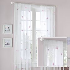 Lily Allover Rod Pocket Flower Curtain Single Panel