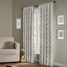 <strong>Madison Park</strong> Delray Diamond Rod Pocket Curtain Single Panel