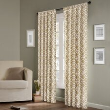 Delray Diamond Rod Pocket Curtain Single Panel