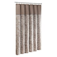 <strong>Madison Park</strong> Aubrey Polyester Faux Silk Shower Curtain