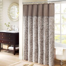 Aubrey Polyester Faux Silk Shower Curtain