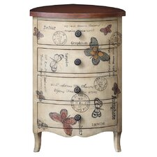Butterfly 4 Drawer Chest