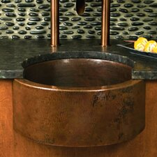 "19"" x 19"" Fiesta Hand Hammered Bar Sink"