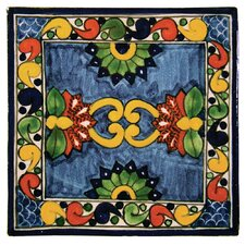 Asters Hand Painted Talavera Tile