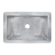 "33"" x 22"" Cocina Grande Hand Hammered Kitchen Sink"