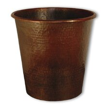 Hand Hammered Waste Basket
