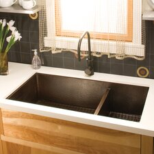 "40"" x 22"" Cocina Duet Pro Hand Hammered Kitchen Sink"