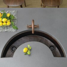 "38"" x 18"" Luna U-Shaped Bar Sink"