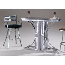 Crescents Granite Top Contemporary Bar Set