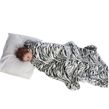 Weighted Blanket Slipcover in Zebra Fur