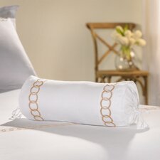 Rings Embroidered Neck Roll Pillow