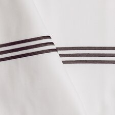 Baratto Euro Sham with Triple Embroidered Stripes