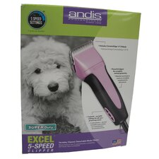<strong>Andis Company</strong> Excel Variable 5 Speed Clipper in Pink
