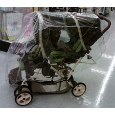 <strong>Sasha's Kiddie Products</strong> Tandem (Front and Back) Stroller Rain and Wind Cover