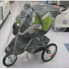 Single Stroller / Jogger Travel System Rain and Wind Cover