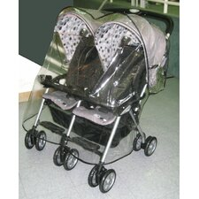 <strong>Sasha's Kiddie Products</strong> Combi Twin Side by Side Stroller Rain and Wind