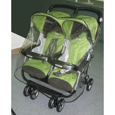 <strong>Sasha's Kiddie Products</strong> Peg Perego Aria Twin, and Aria Twin 60/40 Twin Side by Side Stroller Rain and Wind Cover