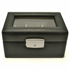 Luxury 3 Slot Watch Jewelry Box in Genuine Leather