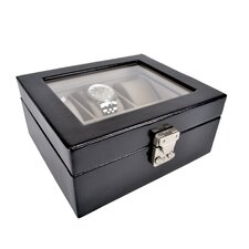 Luxury 6 Slot Watch Jewelry Box in Genuine Leather