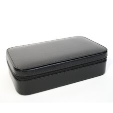 Genuine Leather Travel Jewelry Case