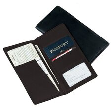 <strong>Royce Leather</strong> Man-Made Leather Passport Ticket Holder