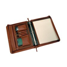 <strong>Royce Leather</strong> Deluxe Convertible Zip Around Binder/Folio
