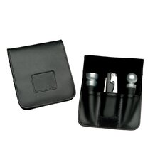 <strong>Royce Leather</strong> Wine Accessory Valet in Black