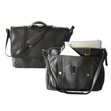 "Deluxe Expandable 17"" Laptop Brief in Black"