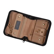 Genuine Leather Zippered Jewelry Case