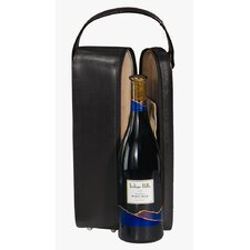 Man Made Leather Single Wine Presentation Case in Black