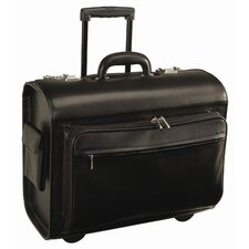 Royce Leather Executive Rolling Laptop Briefcase