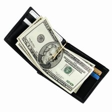 Men's Money Clip Wallet with Outside Pocket