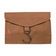 Man-Made Leather Hanging Toiletry Bag