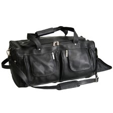 "21.5"" Vaquetta Nappa Leather Travel Duffel Bag"