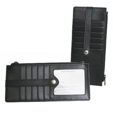 <strong>Royce Leather</strong> Credit Card Wallet in Black