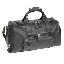 """Genuine Leather 17.5"""" Sports Duffel Carry-on Bag"""
