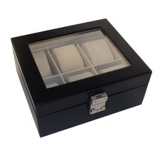 Luxury 6 Slot Watch Jewelry Box in Genuine Leather