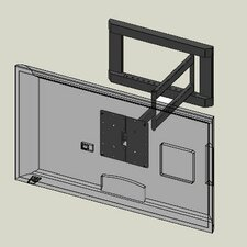 Articulating / Tilt Wall Mount for LCD