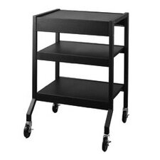 Mobile Cart with Multi-Position Center Shelf