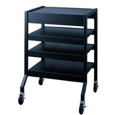 Mobile Cart with 2 Multi-Position Center Shelves