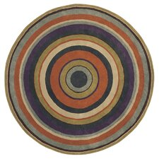 Sybilla Diana Navy/Orange Area Rug