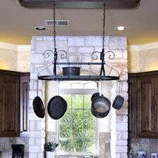 <strong>Advantage Components</strong> Ornamental Expandable Oval Hanging Pot Rack