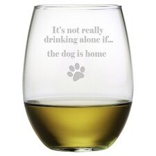 The Dog is Home Stemless Wine Glass (Set of 4)