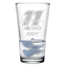 Nascar Individual 16 oz. Mixing Glass, Denny Hamlin with personalization