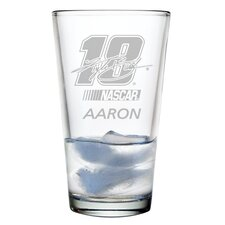 Nascar Individual 16 oz. Mixing Glass, Kyle Busch with personalization